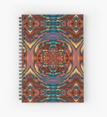 Circular Orange Blue Blurry Psychedelic Print Spiral Notebook