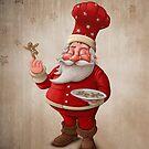 Santa Claus pastry cook by jordygraph