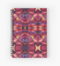 Symmetrical Fractal  Pink Yellow Pink Red Spiral Notebook
