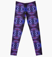 Black Lavender Painting - Led Light Painting Manipulation Leggings