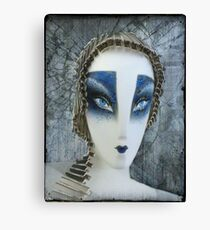 painted schlappi head Canvas Print
