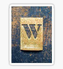 Letter W Sticker