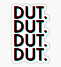 Dut. x4 (white background) Sticker