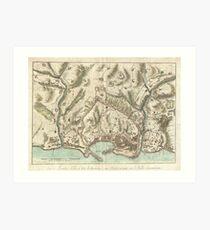 Vintage Map of Genoa Italy (1800) Art Print