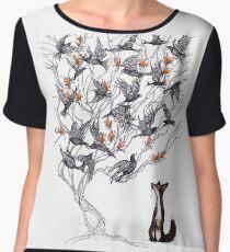 The Fox and the Crow Chiffon Top