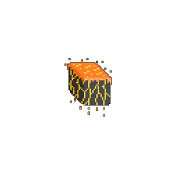 Pixel Lava Block Sticker by RaeSyndrome