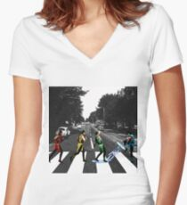 BEATLE KOMBAT Women's Fitted V-Neck T-Shirt
