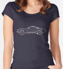 1966 Ford Mustang Fastback reversed Women's Fitted Scoop T-Shirt