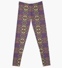 Purple Quilted Flannel Pattern Leggings