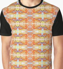 Orange Blue Purple Symmetrical Abstract Design Graphic T-Shirt