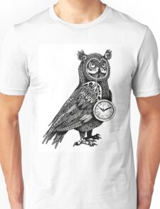 Great Horned Owl with Pocket Watch Unisex T-Shirt