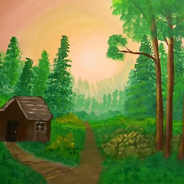 The Old Shed and Country Trail by butterflyartman