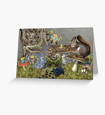 Insect Tea Party Greeting Card