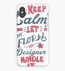 KEEP CALM FLORAL DESIGNER iPhone Case/Skin