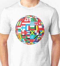 Flags Of The World Globe Unisex T-Shirt
