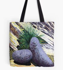 Two large rounded ROCKS * Tote Bag