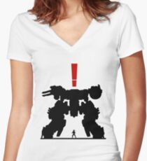 Metal Gear Solid Women's Fitted V-Neck T-Shirt