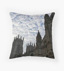 Sky over York Minster Throw Pillow