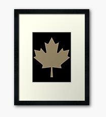 Maple Leaf Pattern - Drake Gold Framed Print