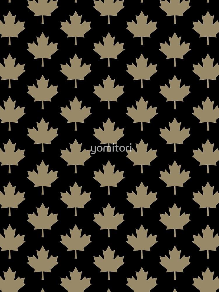 Maple Leaf Pattern - Drake Gold by yomitori