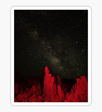 Milky Way at Mono Lake Sticker