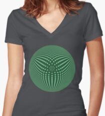 3Dphere Women's Fitted V-Neck T-Shirt