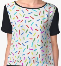 Bright Colorful Rainbow Sprinkles Chiffon Top
