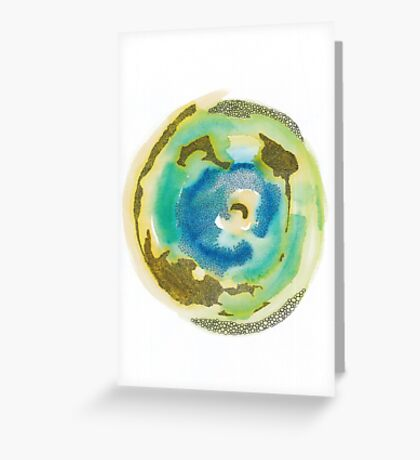 Not Quite Earth Abstract Map Greeting Card