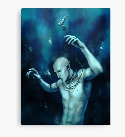 Oceans so deep, he will drown in his sleep Canvas Print