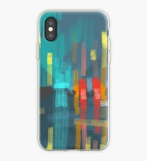 rain and city lights iPhone Case