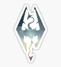 Skyrim Logo - Blue gradient Sticker