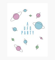 A UFO PARTY - X FILES Photographic Print