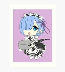 Re:Zero Rem Chibi Art Print