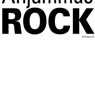 Ahjummas Rock T-shirts, Black Lettering by kchatjjigae