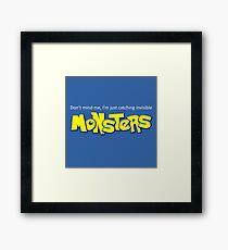 Monster Pokemon Framed Print
