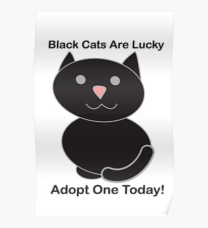 Black Cat Adoption Poster