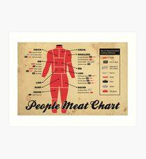 People meat chart Art Print