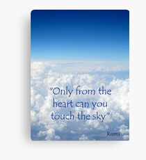 Only from the heart....... Canvas Print