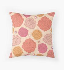 Romantic Roses Throw Pillow