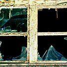 The broken Window on a dilapidated Clinic.......... by Imi Koetz