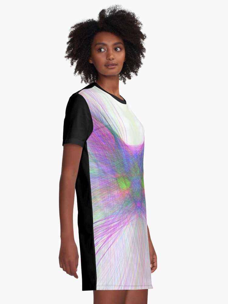 Alternate view of Sky Cat Graphic T-Shirt Dress