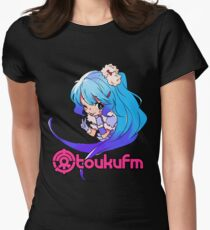 Chibi Yukiko (Colorful on Dark) Women's Fitted T-Shirt