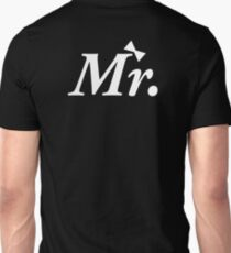Wedding Groom Just Married Mr Bow Tie Honeymoon Design Unisex T-Shirt