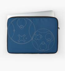 Trust me, I'm the Doctor   Circular Gallifreyan Laptop Sleeve