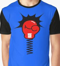 Comic Book Punch Boxing Glove on Spring Graphic T-Shirt