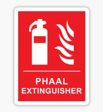 Funny Spicy Phaal Curry Fire Extinguisher Joke Sticker