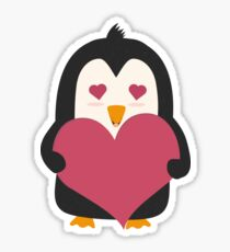Penguin with a heart   Sticker