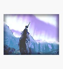 Skyrim Northern Lights Poster (The Elder scrolls)  Photographic Print