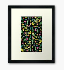 Flower Patch Dark Framed Print