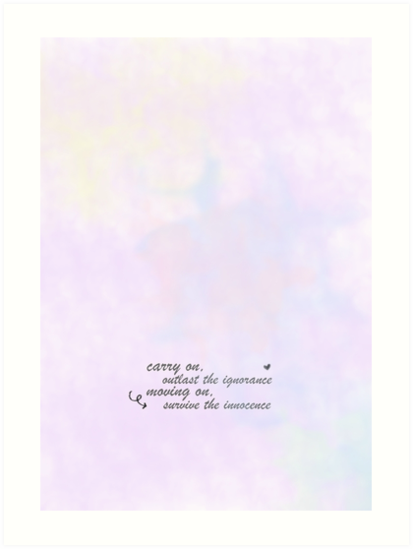 '5 seconds of summer 'carry on' lyrics' Art Print by lauraslouise